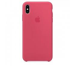 iPhone XS Max Silicone Case - Hibiscus Apple