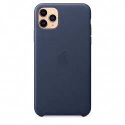 iPhone 11 Pro Max Leather Case Middernachtblauw Apple