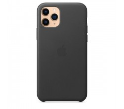 iPhone 11 Pro Leather Case Zwart Apple
