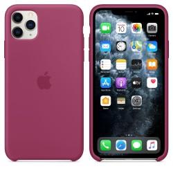 Siliconenhoesje voor iPhone 11 Pro Max - Granaatappel  Apple