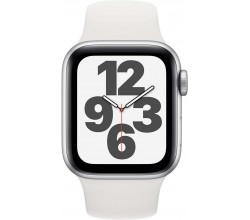 Watch SE 40mm Zilver Aluminium Witte Sportband Apple