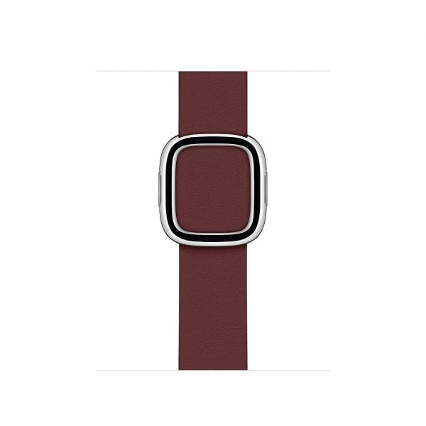 Bandje met moderne gesp 40mm Garnet Large