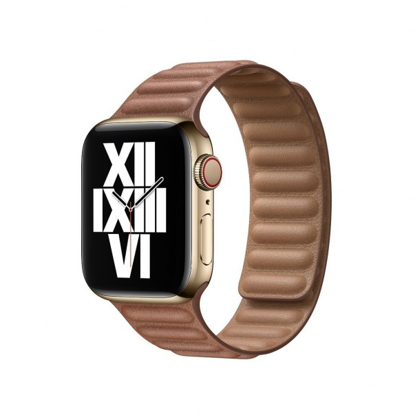 40mm Saddle Brown Leather Link Small