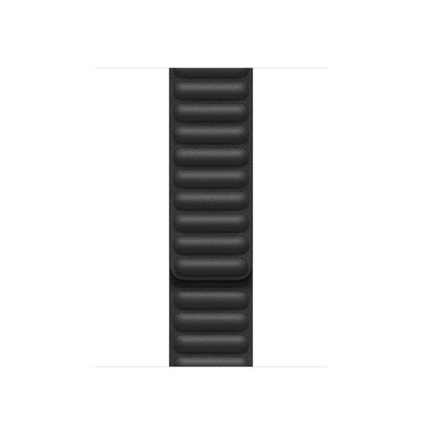 40mm Black Leather Link Large