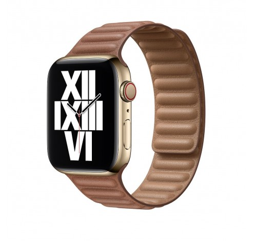 44mm Saddle Brown Leather Link Small  Apple