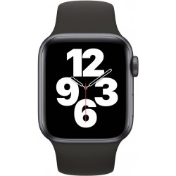 Watch SE 40mm Spacegrijs Aluminium Zwarte Sportband Apple