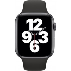 Watch SE 44mm Spacegrijs Aluminium Zwarte Sportband Apple
