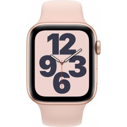 Watch SE 44mm Goud Aluminium Roze Sportband Apple