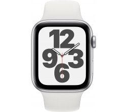 Watch SE 44mm Zilver Aluminium Witte Sportband Apple