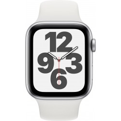 Watch SE 44mm Zilver Aluminium Witte Sportband Apple