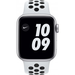 Watch Nike SE 40mm Zilver Aluminium Witte Sportband Apple