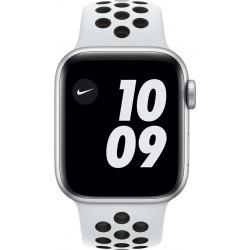 Watch Nike SE 40mm Zilver Aluminium Witte Sportband  Apple