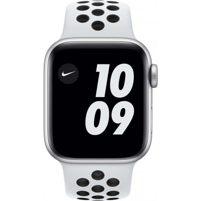 Watch Nike SE 40mm Aluminium Argent Bracelet Sport Blanc Apple