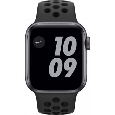 Watch Nike SE 40mm Aluminium Gris Sidéral Bracelet Sport Noir Apple