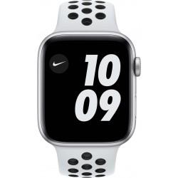 Watch Nike SE 44mm Zilver Aluminium Witte Sportband  Apple