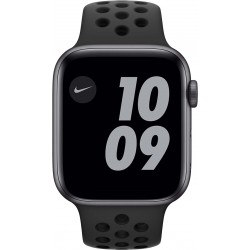 Watch Nike SE 44mm Spacegrijs Aluminium Zwarte Sportband Apple