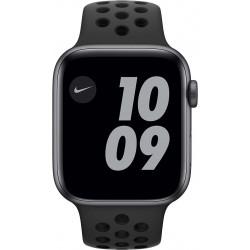 Watch Nike SE 44mm Spacegrijs Aluminium Zwarte Sportband  Apple