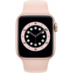 Watch Series 6 40mm Goud Aluminium Roze Sportband Apple