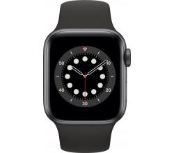 Watch Series 6 40mm Spacegrijs Aluminium Zwarte Sportband Apple