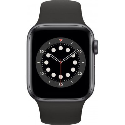 Watch Series 6 40mm Aluminium Gris Sidéral Bracelet Sport Noir Apple