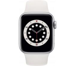 Watch Series 6 40mm Zilver Aluminium Witte Sportband Apple