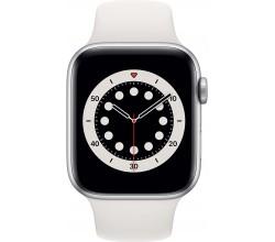 Watch Series 6 44mm Zilver Aluminium Witte Sportband Apple