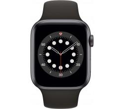 Watch Series 6 44mm Space Gray Aluminium Zwarte Sportband Apple
