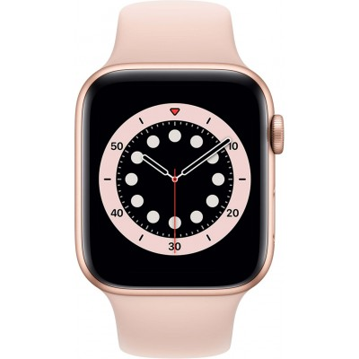 Watch Series 6 44mm Goud Aluminium Roze Sportband Apple