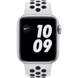 Watch Nike Series 6 40mm Zilver Aluminium Witte Sportband  Apple