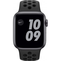 Watch Nike Series 6 40mm Space Gray Aluminium Zwarte Sportband  Apple