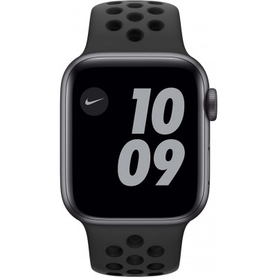 Watch Nike Series 6 40 mm Aluminium Gris Sidéral Bracelet Sport Noir Apple