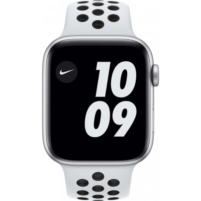 Watch Nike Series 6 44mm Zilver Aluminium Witte Sportband Apple