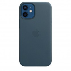 iPhone 12 mini Leren hoesje met MagSafe Baltic Blue Apple
