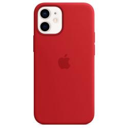 Siliconenhoesje met MagSafe voor iPhone 12 mini Rood  Apple