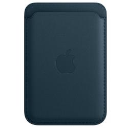Leren kaarthouder met MagSafe voor iPhone Baltisch blauw  Apple
