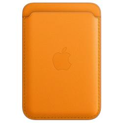 Leren kaarthouder met MagSafe voor iPhone California Poppy  Apple