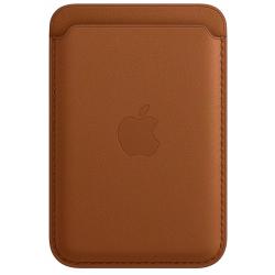 Leren kaarthouder met MagSafe voor iPhone Zadelbruin  Apple