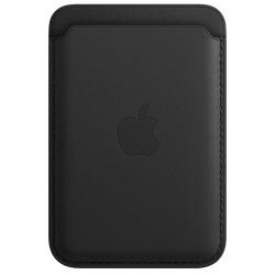 Leren kaarthouder met MagSafe voor iPhone Zwart  Apple