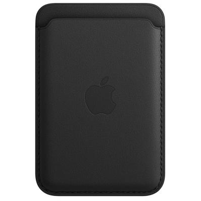 Leren kaarthouder met MagSafe voor iPhone Zwart