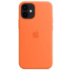 Siliconenhoesje met MagSafe voor iPhone 12 mini Kumquat   Apple