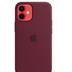 Siliconenhoesje met MagSafe voor iPhone 12 mini Paars  Apple