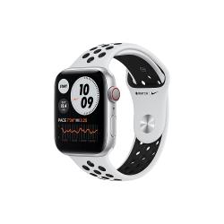 Apple Watch Nike Series 6 GPS + Cellular 40mm Silver Aluminium Case with Pure Platinum/Black Nike Sport Band - Regular