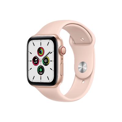 Apple Watch SE GPS + Cellular 44mm Gold Aluminium Case with Pink Sand Sport Band - Regular  Apple