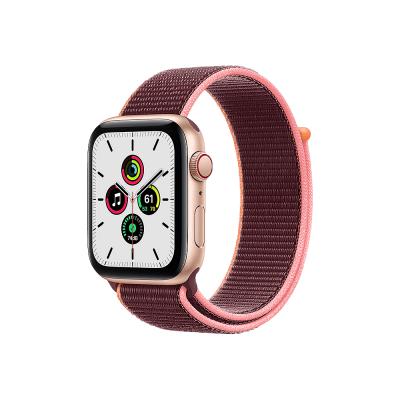 Apple Watch SE GPS + Cellular 44mm Gold Aluminium Case with Plum Sport Loop  Apple