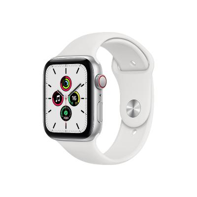 Apple Watch SE GPS + Cellular 44mm Silver Aluminium Case with White Sport Band - Regular  Apple