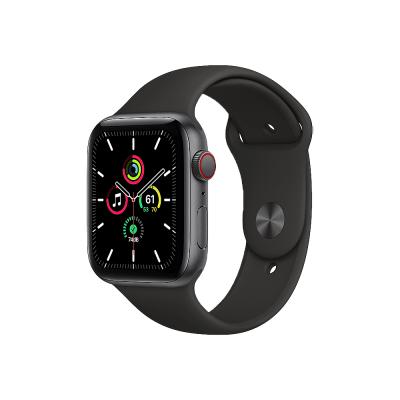 Apple Watch SE GPS + Cellular 44mm Space Gray Aluminium Case with Black Sport Band - Regular  Apple