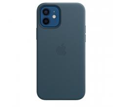 Leren hoesje met MagSafe voor iPhone 12   12 Pro - Baltisch blauw Apple