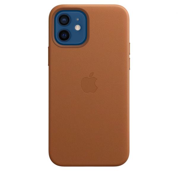 Apple Smartphonehoesje Leren hoesje met MagSafe voor iPhone 12 | 12 Pro - Zadelbruin