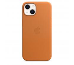 Leren hoesje met MagSafe voor iPhone 13 - Goudbruin Apple