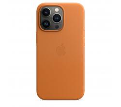 Leren hoesje met MagSafe voor iPhone 13 Pro - Goudbruin Apple